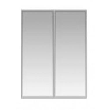 Двери стекл. в алюм. раме, ХР, 397*2х21х1080, УСМ32