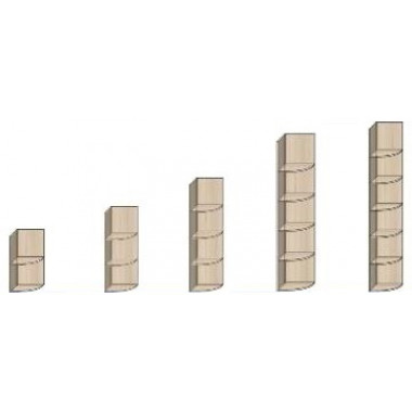Стеллажи угловые, СТ, 374х374х751, УС424