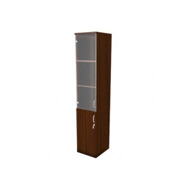 Шкаф полуоткрытый со стеклом, 4 полки, 40х45х200 см, Ш64Т-04L/Rз