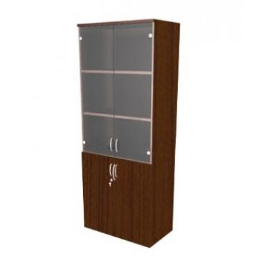 Шкаф полуоткрытый со стеклом, 4 полки, 80х45х200 см, ПШ64Тз