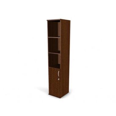 Шкаф полуоткрытый с замком, 4 полки, 40х45х200 см, ПШ64-04L/Rз