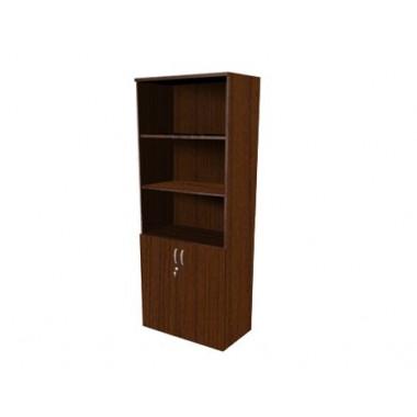 Шкаф полуоткрытый с замком, 4 полки, 80х45х200 см, ПШ64з