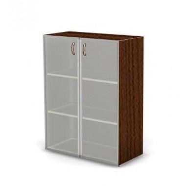 Шкаф средний, глубокий, 2 полки, со стеклом, 80х60х109 см, ПШ44Т/1