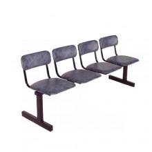 Секция стульев 4-х местная, 189x55x80 см, М113-04