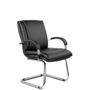 Конференц-стул низкий Артекс МЛТ/St/ХР/О, экокожа