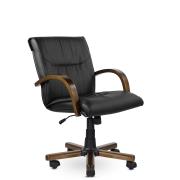 Кресло руководителя низкое Бона St/К, экокожа