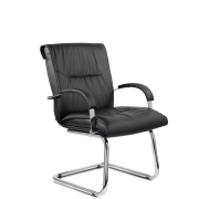 Конференц-стул низкий Бона МЛТ/ХР/St/О, экокожа