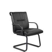Конференц-стул низкий Бона ПЛ/St/О, экокожа