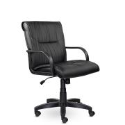 Кресло руководителя низкое Бона St/ПЛ, экокожа