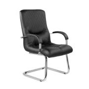Конференц-стул низкий Гермес ХР/St/О, кож/зам