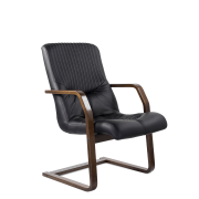 Конференц-стул низкий Гермес К/St/О, кож/зам