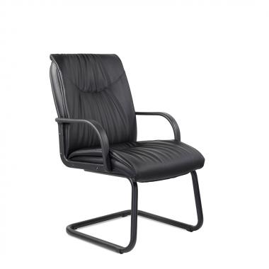 Конференц-стул низкий Свинг ПЛ/St/О, кож/зам Z-01