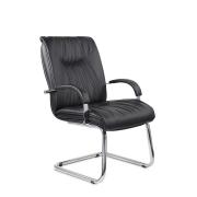 Конференц-стул низкий Свинг ХР/St/О, кож/зам Z-01