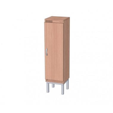 Шкаф в раздевалку 1-но секционный на металлокаркасе
