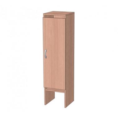 Шкаф в раздевалку на ножках ЛДСП 1-но секционный со скамьей