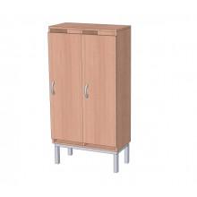 Шкаф в раздевалку 2-х секционный на металлокаркасе