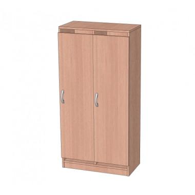 Шкаф в раздевалку без антресоли 2-х секционный