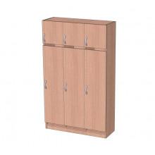 Шкаф в раздевалку с антресолью 3-х секционный