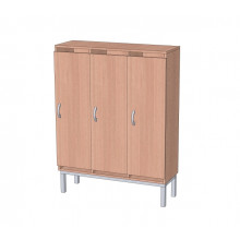 Шкаф в раздевалку 3-х секционный на металлокаркасе