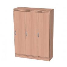 Шкаф в раздевалку без антресоли 3-х секционный