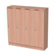 Шкаф в раздевалку без антресоли 4-х секционный