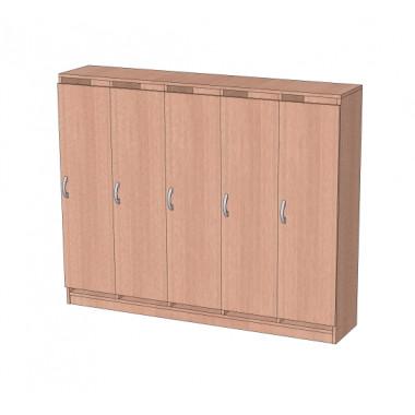 Шкаф в раздевалку без антресоли 5-и секционный