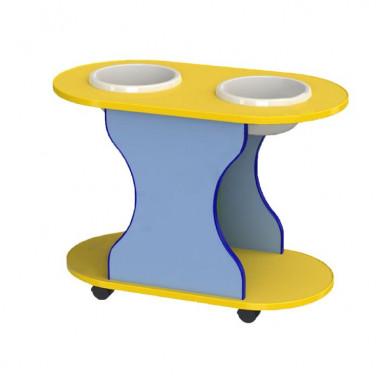 """Стол """"Центр воды и песка"""" овальный на колесиках"""