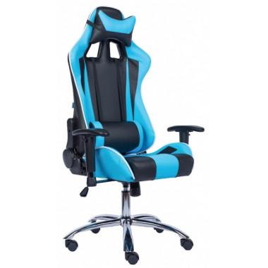 Игровое компьютерное кресло (геймерское) EVERPROF Lotus S5 PU Голубой