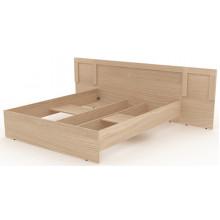 Двойная кровать деревянная, 269,6x204,6x90 см, N002