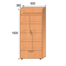 Шкаф детский, 600x360x1500мм, ФДС03
