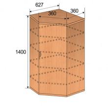 Шкаф детский угловой, 627x627x1400мм, ФДС06