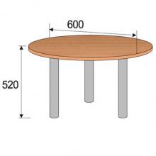 Стол круглый, 600x600x520мм, ФДС13