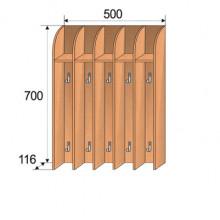 Вешалка настенная для полотенец, 600x360x1500мм, ФДС17