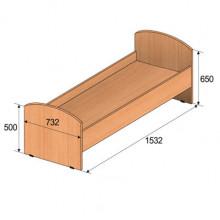 Кровать детская, 1532x732x650мм, ФДС18