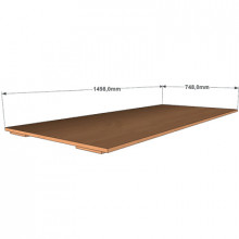 Крышка к трехъярусной кровати, 1498x748x32мм, ФДС24