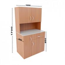 Мини-кухня, 1000x600x1700(850)мм, ФМК02