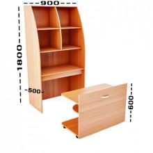 Мини-кухня, 900x500x1800(660)мм, ФМК03