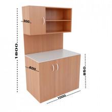 Мини-кухня, 1000x600x1800(850)мм, ФМК04