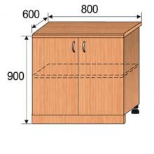 Тумба кухонная напольная, 800x600x900мм, ФКУХ01