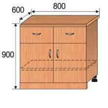 Тумба кухонная напольная, 800x600x900мм, ФКУХ02