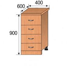 Тумба кухонная напольная, 400x600x900мм, ФКУХ04