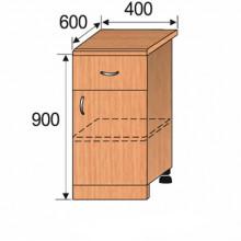 Тумба кухонная напольная, 400x600x900мм, ФКУХ05