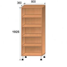 Шкаф лабораторный, 800x360x1925мм, ФШЛ01