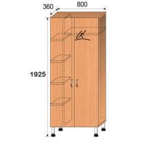 Шкаф лабораторный, 800x360x1925мм, ФШЛ07