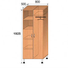 Шкаф лабораторный, 800x500x1925мм, ФШЛ11