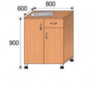 Мойка лабораторная врезная, 800x600x900мм, ФМЛ04