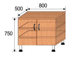 Тумба лабораторная, 800x500x750мм, ФТЛ01