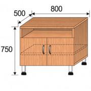 Тумба лабораторная, 800x500x750мм, ФТЛ02