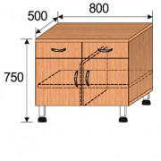 Тумба лабораторная, 800x500x750мм, ФТЛ04