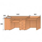 Демонстрационный стол, 2400x900x860мм, ФМШ04